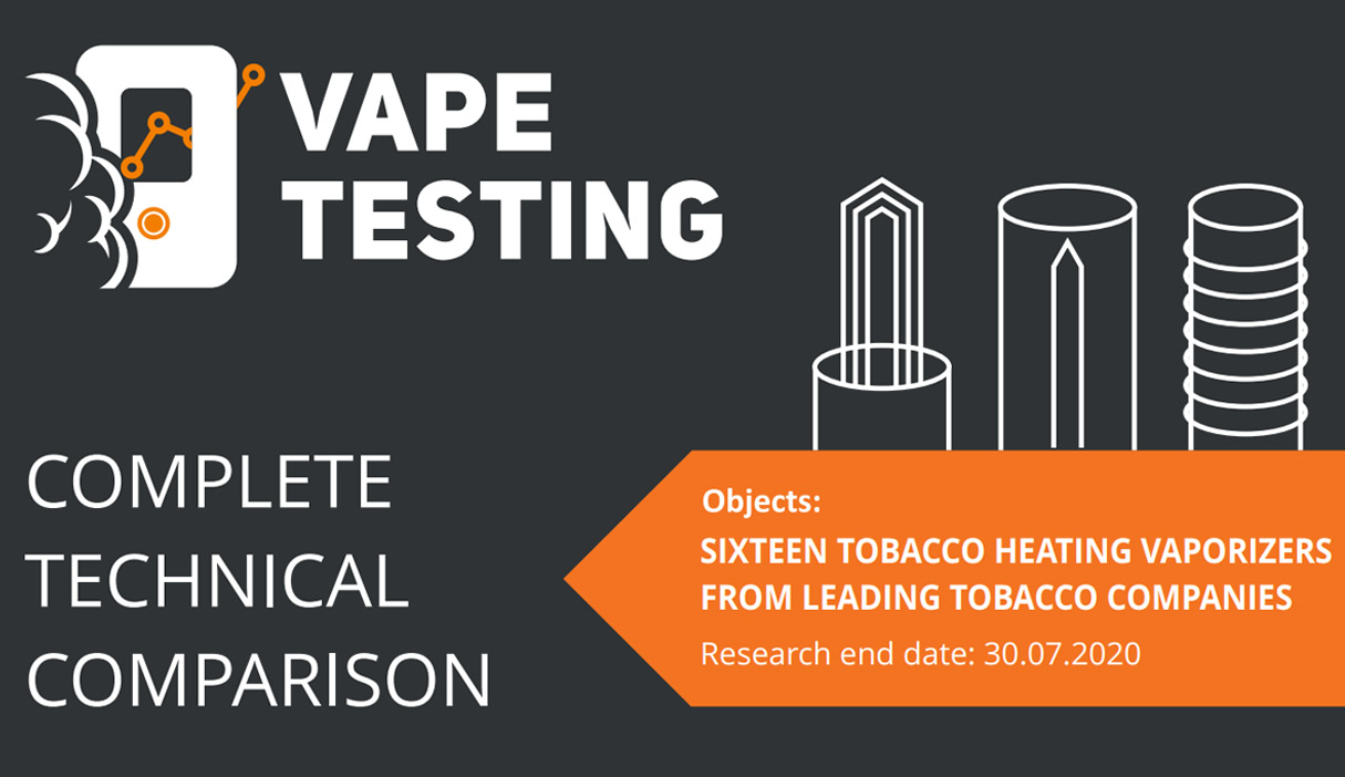 complete 16 heat not burn vaporizers test and analysis report.