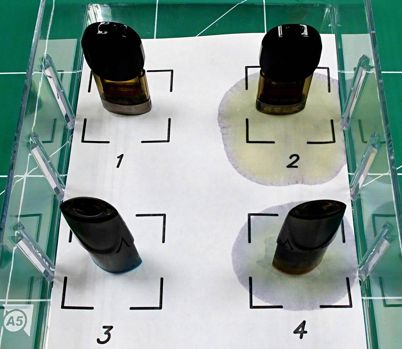 ecigarette pod cartridge leakage test