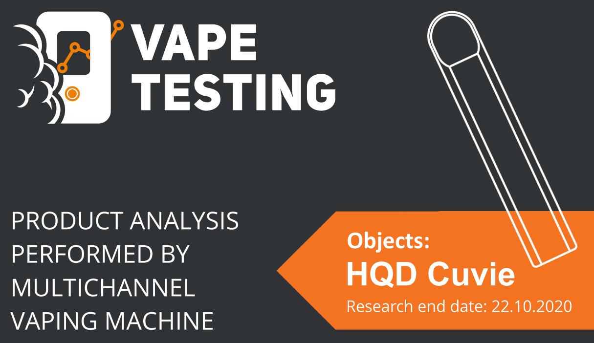 HQD Disposable pod vape Test Report
